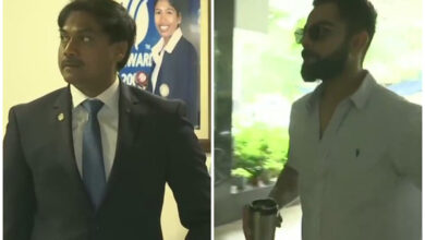 Photo of Kohli, MSK arrive for meeting to finalize team for WI tour