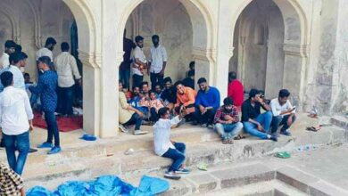 Photo of Masjid desecrated in Golconda during Bonal festival