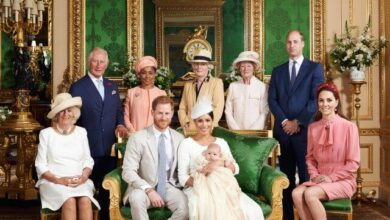Photo of Prince Harry and Meghan's son Archie christened in private service