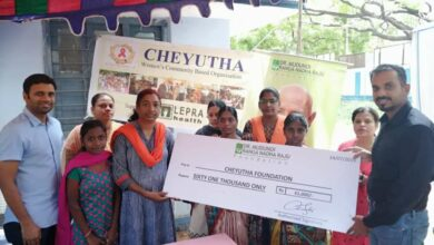 Photo of Aid distributed to HIV infected women in Hyderabad