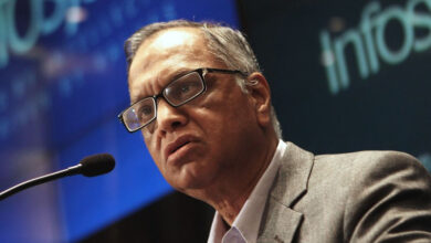 Photo of Narayana Murthy awarded honorary doctorate by London varsity