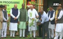 PM plants saplings in Parliament as part of plantation drive