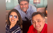 World Cup fever grips Neetu and Rishi Kapoor, duo poses with 'Haryana Hurricane'