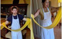 Priyanka Chopra, Nick Jonas set couple goals, attend cooking class