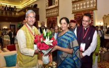 Sitharaman, others arrive for 'Conclave of the Himalayan States'
