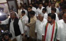 Congress leaders visit Secretariat buildings, demand State govt drop plan to build new one