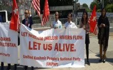 Political activists from PoK protest against Pakistani occupation