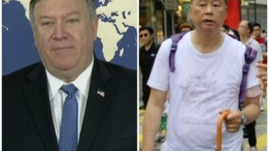 Photo of Pompeo, Hong Kong businessman discuss controversial extradition bill
