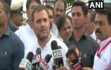 BJP uses money and threats to bring down state government: Rahul Gandhi