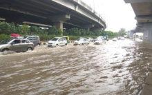 Rain causes waterlogging in Delhi, triggers traffic jams