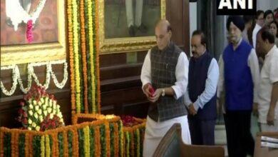 Photo of Rajnath pays tribute to Syama Prasad Mookerjee on birth anniversary