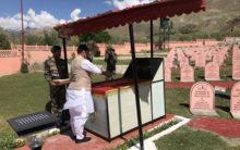 Rajnath Singh pays tribute to martyrs at Kargil War Memorial