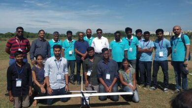 Photo of OU students successful in radio-controlled aircraft test