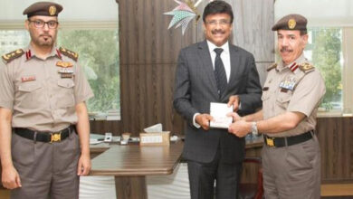 Photo of Sharjah issues 1st golden card visa to Indian expat businessman