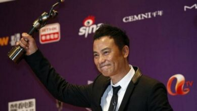 Photo of 'Tomb Raider' star Simon Yam stabbed onstage in China