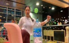 Sushmita Sen takes up #BottleCapChallenge with family