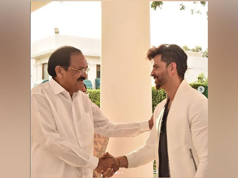Hrithik Roshan thanks VP Naidu for his 'encouraging words'