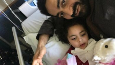 Photo of Father and daughter who were shot in Christchurch returns home