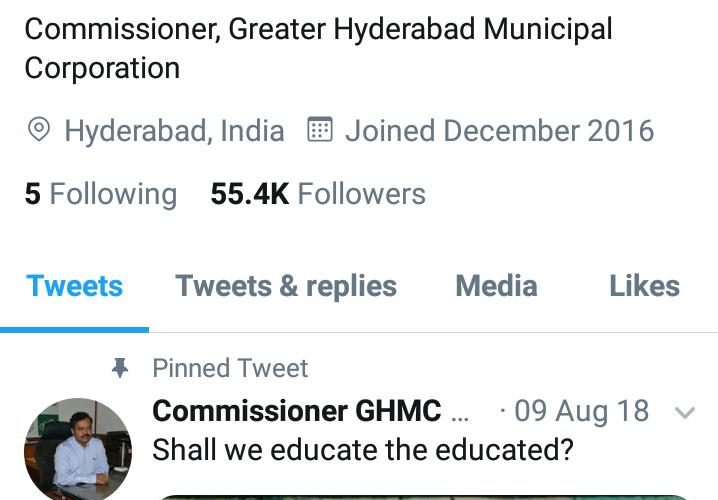 Hyderabad: GHMC a rising star of twitter – Siasat Daily
