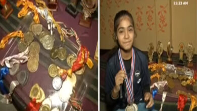 Photo of 17 year-old Ayesha made country proud by winning 2 gold medals