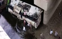 UP: 29 dead as bus falls into drain on Yamuna Expressway