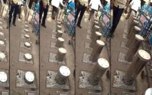 Electric bollards installed at 428-year-old monument Charminar