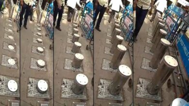 Photo of Electric bollards installed at 428-year-old monument Charminar