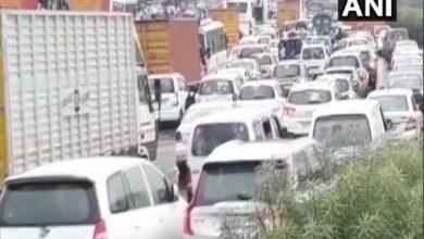 Photo of Gurugram: Rains lead to traffic jam, waterlogging