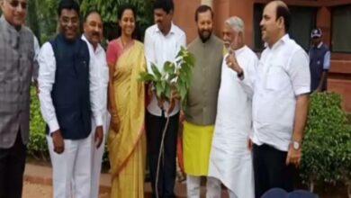 Photo of Telangana MPs plant saplings at Parliament