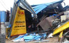 GHMC Demolishes illegal structures in Karwan