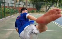 Sports Minister Kiren Rijiju takes #BottleCapChallenge