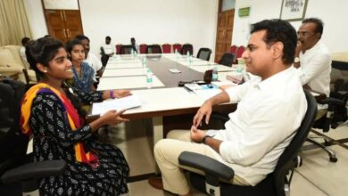Photo of KTR offers help two girls for education