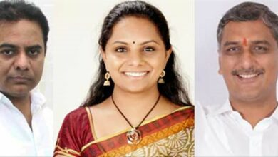 Photo of Harish, Kavitha, others greet KTR on birthday