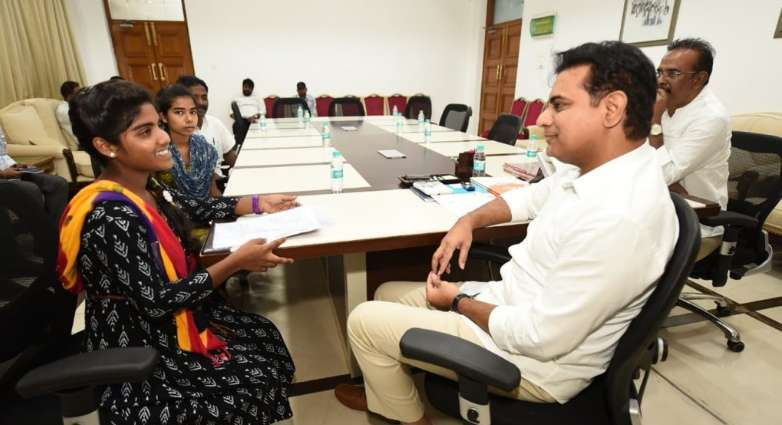 KTR offers help two girls for education
