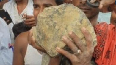 Photo of 13 kg Celestial object falls in Madhubani paddy field
