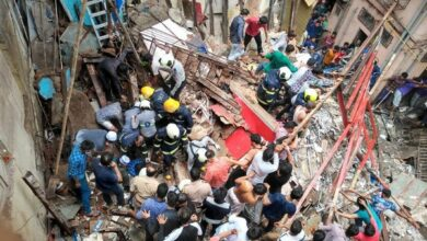 Photo of 4 storied building collapses in Mumbai, many feared trapped