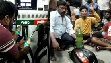 Photo of Hyderabad: Is Petrol bunk mixing water with fuel? Protest held