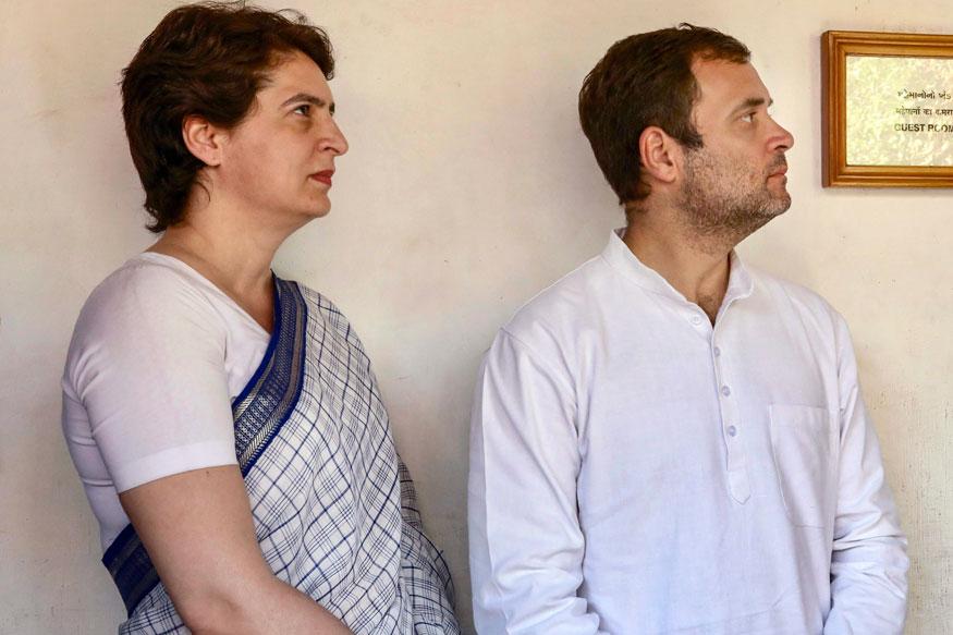 Illegal arrest: Rahul on police action against Priyanka Gandhi