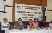 Voices from across the Nation demand the release of Sanjiv Bhatt