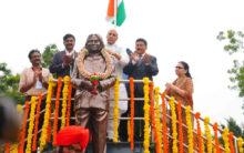 APJ Abdul Kalam statue unveiled by Rajnath Singh