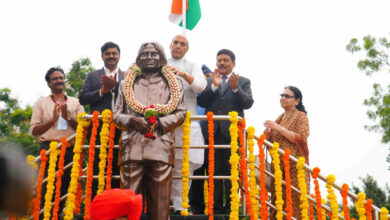 Photo of APJ Abdul Kalam statue unveiled by Rajnath Singh