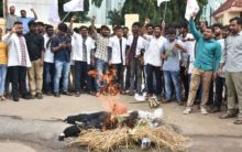 Protest against NMC Bill at Osmania Medical College