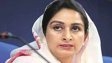 Photo of Harsimrat thanks Goyal for Bidar-Nanded rail line