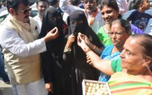 BJP Minority Morcha holds Victory Celebration at Abids