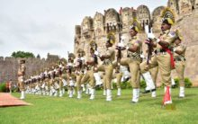 Independence Day rehearsal at Golconda Fort