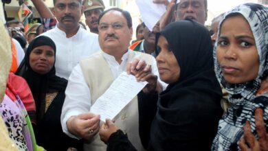 Photo of BJP membership drive in Hyderabad, Nadda enrolled few members