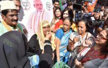 BJP Minority Morcha leaders Celebration Pass Bill in 3 Talak