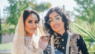 Photo of Indo-Pak same-sex couple look breathtaking in fairy tale wedding