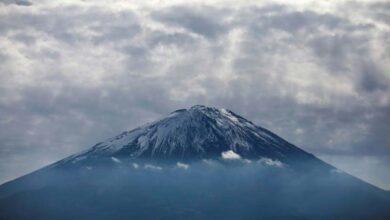 Photo of Russian climber killed by falling rock at Mt Fuji