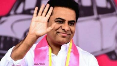 Photo of KTR pats youth for inventing low-cost portable paddy hand weeder